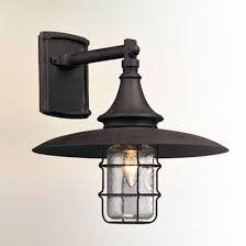 vintage industrial rustic outdoor sconce large shades of light