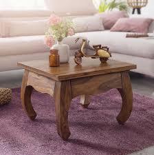 couchtisch opium massiv holz sheesham 60 cm breit wohnzimmer tisch design dunkel braun landhaus stil beistelltisch möbel und schönes