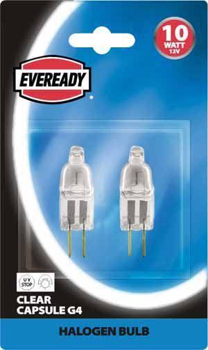 Eveready 20W G4 Capsule Halogen x2 S808