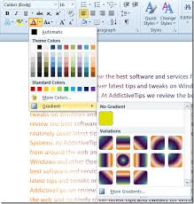 Word 2010 Change Font Color With Gradient Fill