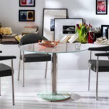 runder glastisch für esszimmer weiß chrom jetzt bestellen