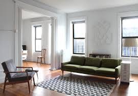 mid century sofas living room modern with column floor l living