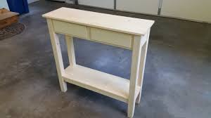 How To Build Wooden End Table by Diy Simple Hall Table Youtube