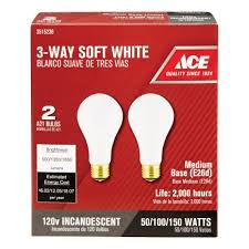 ace 50 100 150w 3 way light bulb in soft white 039975148