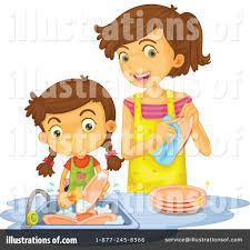 Washing Dishes Clipart Illustration by Graphics RF