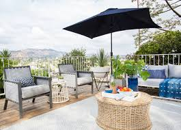 Target Patio Set With Umbrella by The Patio Makeover Emily Henderson
