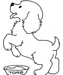 Cute Puppy Printable Coloring Picture