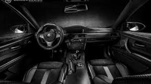 BMW M3 Coupe s an all black interior from Carlex Design