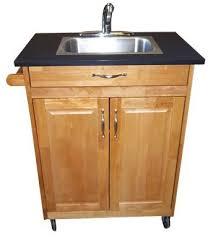 amazon com single basin portable sink wood cabinet model psw