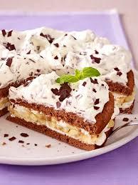 schoko bananen sahne torte rezept lecker kuchen und