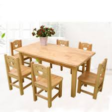 Solid Wood Table And Chairs Kindergarten Children Toy Game Stool Baby School Furniture Study Chair