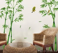 großhandel heiße populäre tv einstellung wand wohnzimmer sofa schmücken wandaufkleber chinesischen wind stick bambus wald tiefen qwonly shop