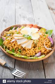 maggi cuisine spicy dried curry instant noodles or malaysian style maggi goreng