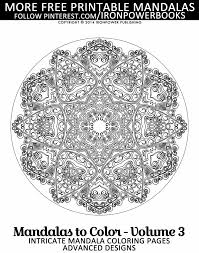 Free Intricate Mandala Coloring Pages For Adults