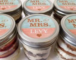 6 8oz Cupcakes In A Jar Mason Jars Wedding Favors Bridal