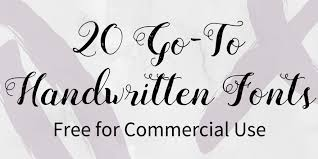 20 Go To Handwritten Fonts Free For Commercial Use DesignBold Blog