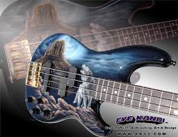 Custom Painting Guitars Awesome Guitar Fender Precision Bass Loner Wolf By