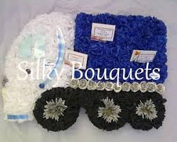 Image Is Loading Artificial Silk Funeral Flower Articulated Lorry Truck Memorial