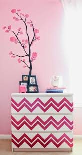Pink Flower Dresser Knobs by Exciting Side Table Dresser With Bold Red Color Paint And Chevron