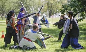 Spirit Halloween Wichita Ks Hours by Role Playing Group Takes Its Medieval Like Battles To Riverside