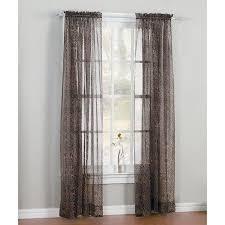 Leopard Print Window Curtain Panel Walmart