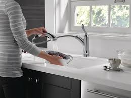 Delta Linden Waterfall Kitchen Faucet by Delta Faucet 4353 Ar Dst Linden Single Handle Water Efficient Pull