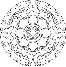 Free Mandala Coloring Pages For Adults Archives Throughout To Print