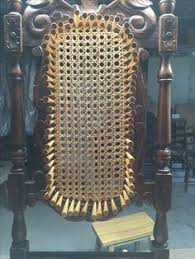 Recaning A Chair Back by French Or Blind Caning In Progress The Holes Do Not Go Through