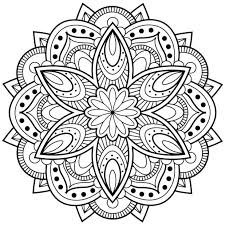 Free Mandala Design Coloring Pages Adults Android Windows Phone Designs Patterns
