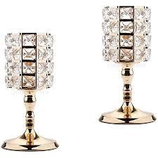 magideal 2pcs kristall teelichthalter kerzenständer in le design elegante deko für hochzeit wohnzimmer schlafzimmer l
