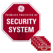 Shop GE 9 in x 9 in Home Security Sign at Lowes