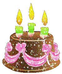 Animated birthday card balloons