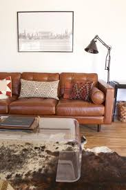 5 ways to style a camel leather sofa mesas temple and sons