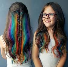 This Is Really Pretty Rainbow Hair For Kids