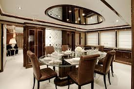 Brilliant Contemporary Designs Ideas For Home And Interior Brown White Dining Room With Art
