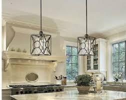 crackle glass pendant island light black farmhouse tuscan