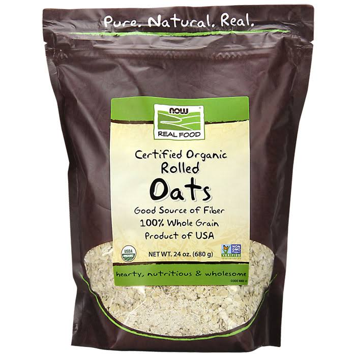 Now Foods Organic Rolled Oats - 24 Oz