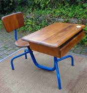 bureau d 馗olier ancien en bois 1 place mobilier ancien pour enfants chaise haute enfant pupitre ecolier