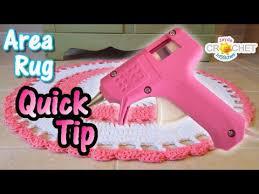 area rug hack glue gun diy add a grip to your