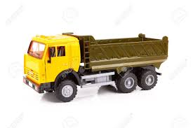 100 Toy Trucking Plastic Truck Isolated On White Background Stock Photo Picture