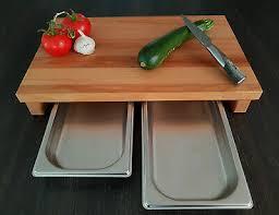 schneidebrett mit auffangschalen kernbuche brückenschneidbrett holzbrett küche ebay