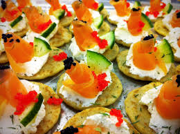 canapes but canapé menus catering manchester