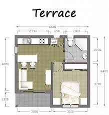 100 One Bedroom Granny Flats 1 Flat Designs Master 40m2 Floor