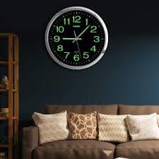 12 zoll moderne wanduhr runde stille leuchtende design metall wanduhr quarz uhren für wohnzimmer schlafzimmer moderne hause decor