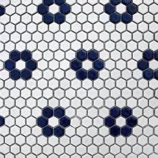 white hexagon floor tile