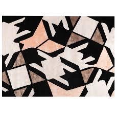tapis contemporain à motif en soie en velours cafetan