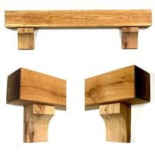 rustic arched corbel oak beam mantel shelf wedding arch