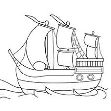Thanksgiving Coloring Pages Mayflower
