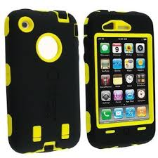 Synthetic OtterBox Style Generic iPhone 4 4s Yellow Black Case