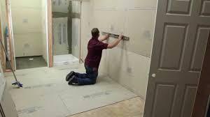 Durock Tile Membrane Canada by Bathroom Remodeling Using Usg U0027s Underlayment And Backerboard Youtube